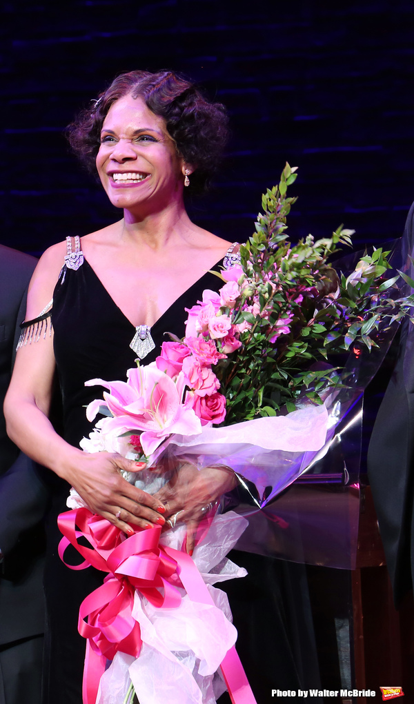 Audra McDonald during the Broadway Opening Night Curtain Call for 'Shuffle Along' at The Music Box Theatre on April 28, 2016 in New York City.