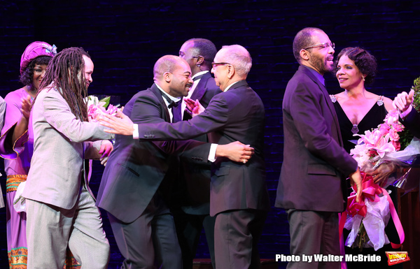 Amber Iman, Savion Glover, Brandon Victor Dixon, Joshua Henry, George C. Wolfe, Daryl Waters and Audra McDonald