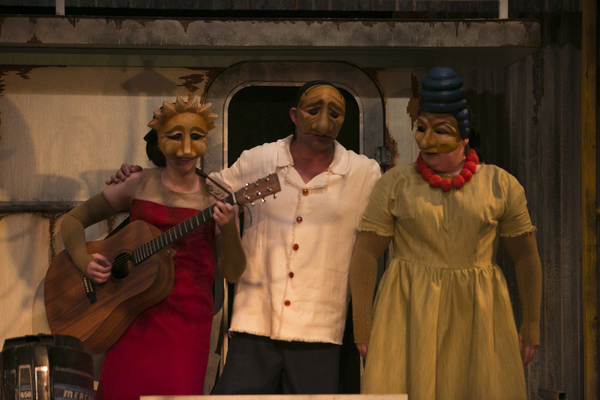 The cast of freeFall Theatre''s ''MR. BURNS''