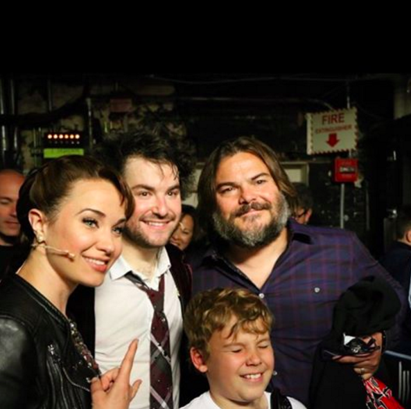 Jack Black Visits Cast Members Backstage at SCHOOL OF ROCK