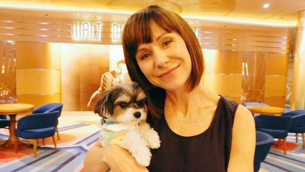 Photo Flash: Broadway's Susan Egan Poses with Tinkerbelle the Dog Aboard the Disney Magic