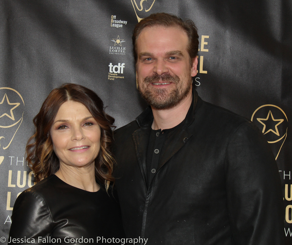 Kathryn Erbe and David Harbour