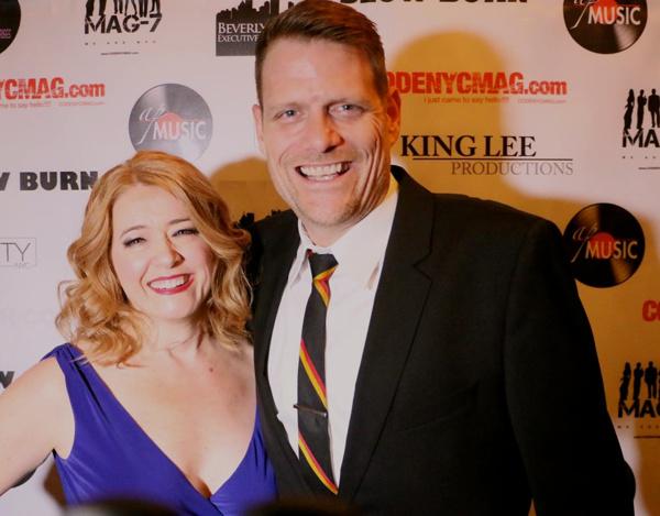 Leslie Becker with her Bonnie & Clyde husband, Broadway''s Victor Hernandez