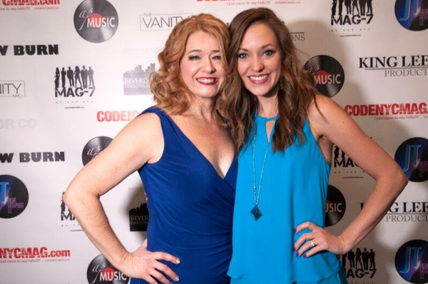 Leslie Becker with Laura Osnes