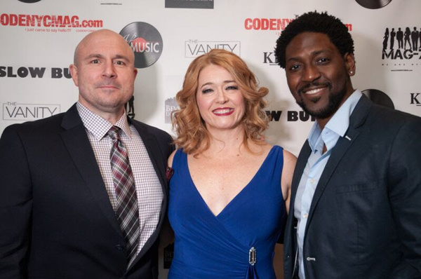 Leslie Becker with Broadway's Victor Hawks and Mike Evariste
