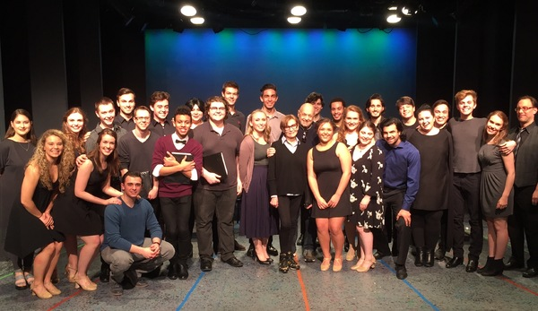 Barbara Siman and the legendary composer Charles Strouse are joined by the cast of MARTY following the Marymount Manhattan College staged reading.