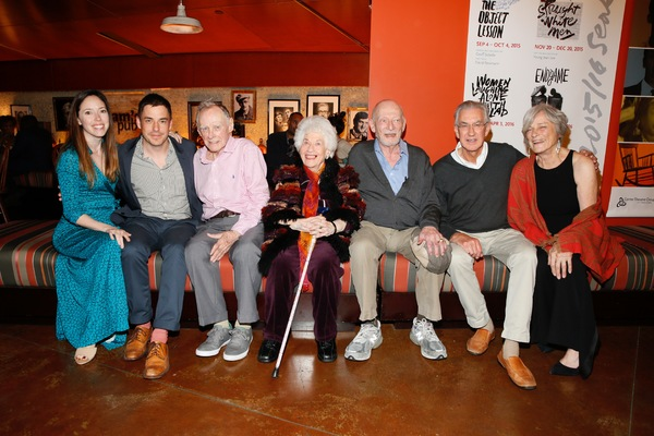 CTG Associate Producer Lindsay Allbaugh, assistant  John Sloan, James Greene, Charlotte Rae, cast member/ Alan Mandell and Barry McGovern and Anne Gee Byrd