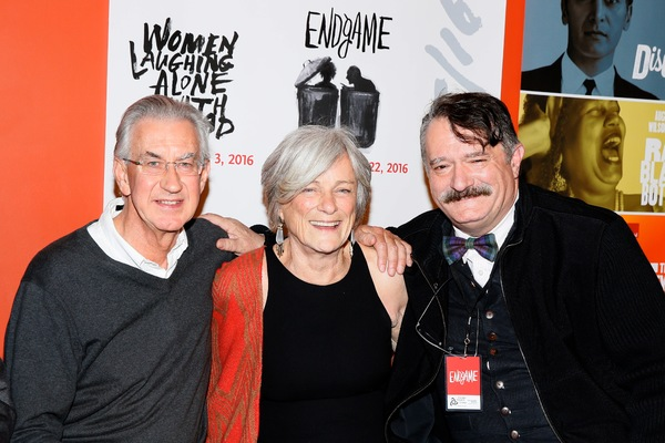 Barry McGovern, Anne Gee Byrd and scenic designer John Iacovelli Photo