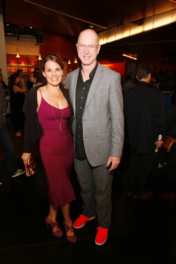 Actors Suzanne Cryer and Hugo Armstrong