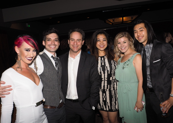Nina Schreckengost, Billy Kametz, Charlotte Mary Wen, Ellie Wyman, and Chris Marcos with Director Brian Kite
