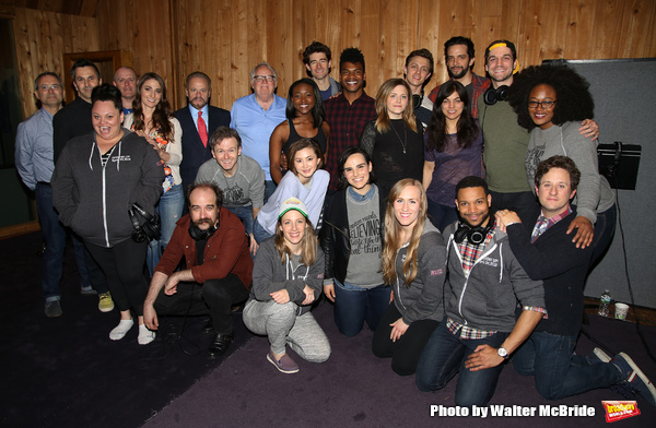 Sara Bareilles with the cast and creative team