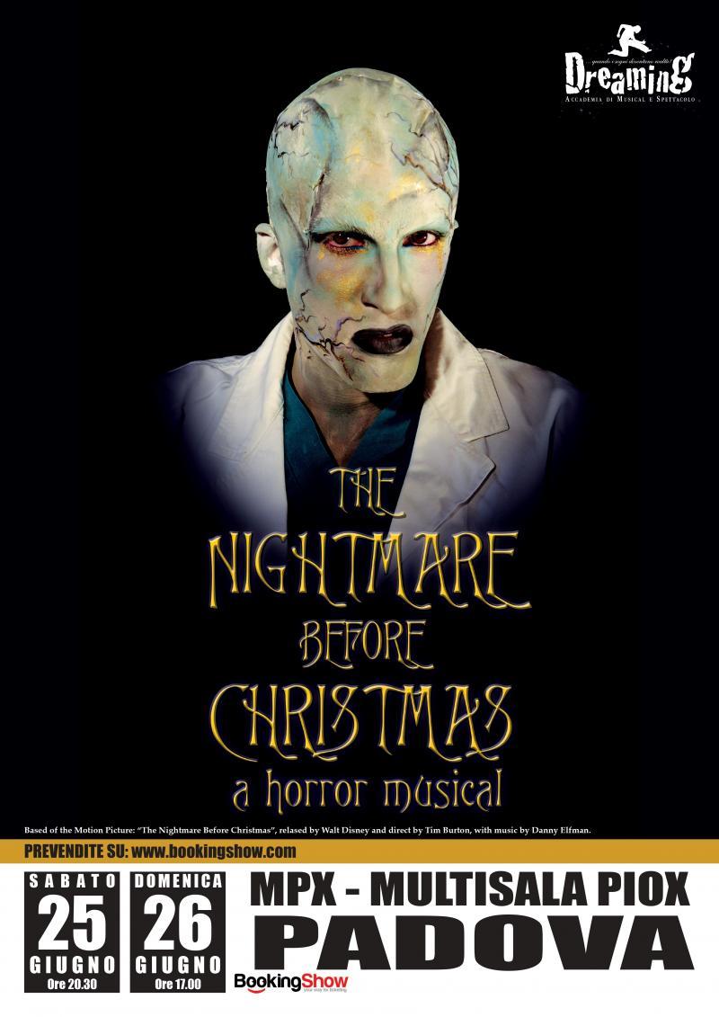 Academy presenta: THE NIGHTMARE BEFORE CHRISTMAS, A HORROR MUSICAL ...