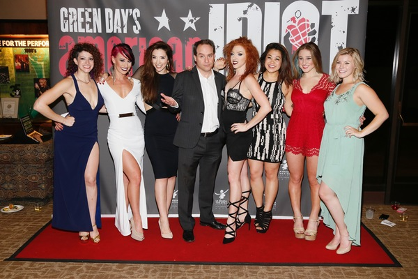 Center, Director Brian Kite poses with the cast of AMERICAN IDIOT
