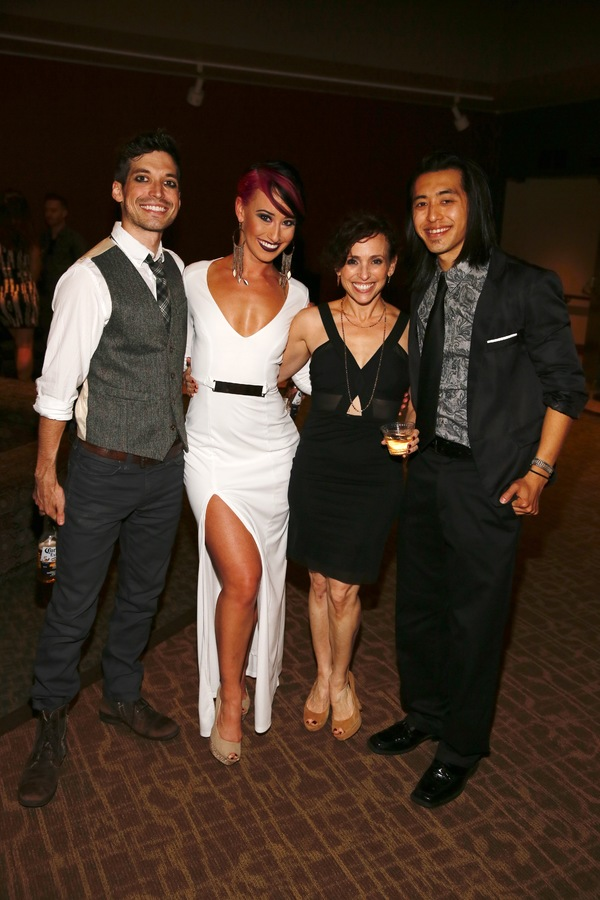 Cast members Billy Kametz, Nina Schreckengost, Choreographer Dana Solimando and cast member Chris Marcos