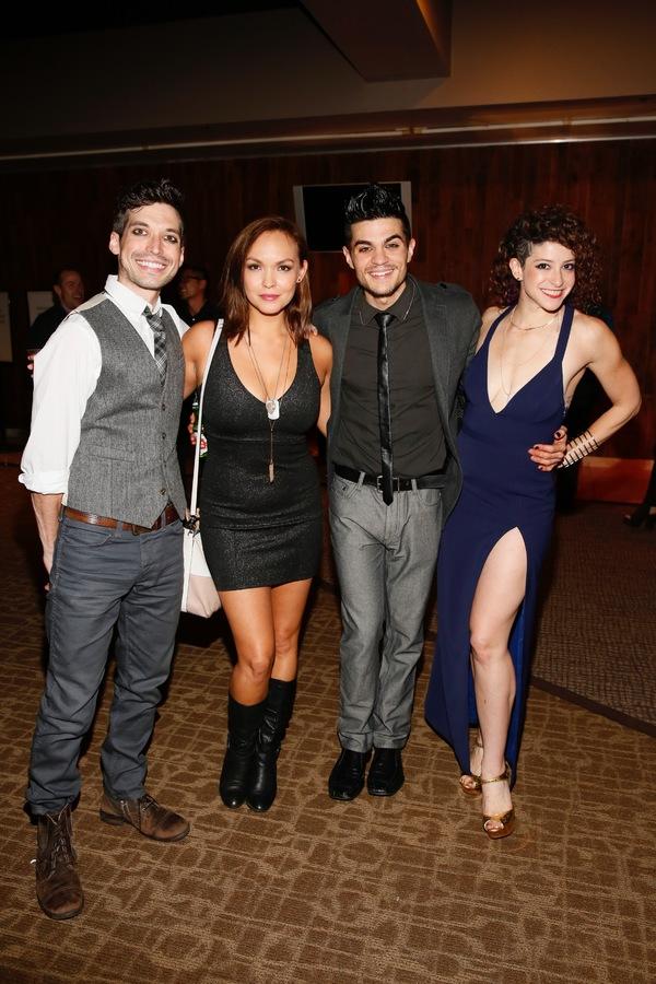 Cast member Billy Kametz, actress Nicki Claspell and cast members A.J. Mendoza and Jordan Kai Burnett