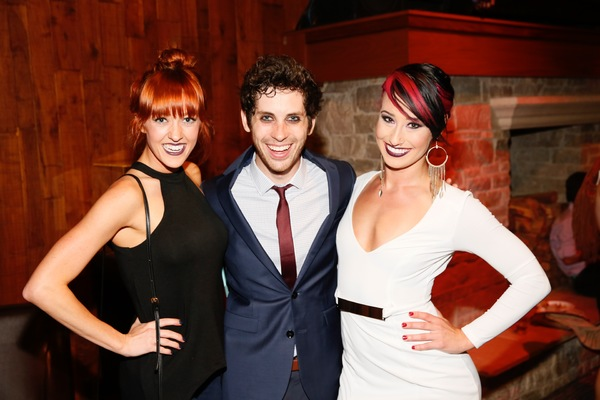Actress Jenna Wright and cast members Sean Garner and Nina Schreckengost Photo