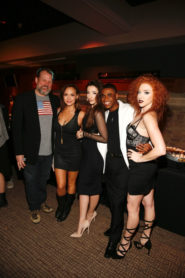 David O, actress Nicki Claspell and Ashley Loren, Alexander Garland and Adrianna Rose Lyons