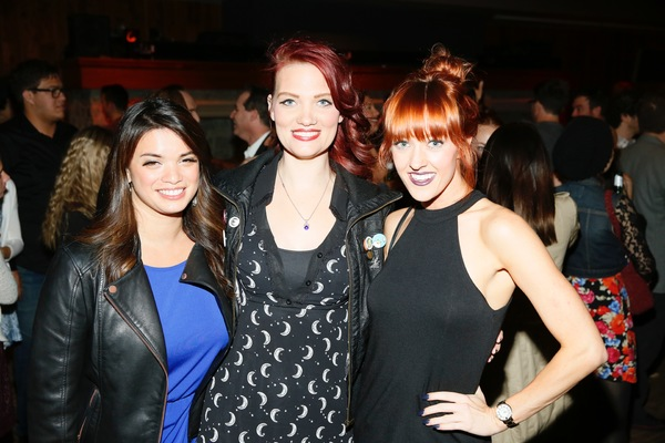 Kira Alemania, Hair and Makeup Designer Katie McCoy and actress Jenna Wright Photo