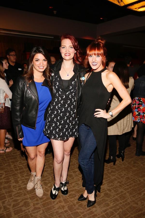 Kira Alemania, Hair and Makeup Designer Katie McCoy and actress Jenna Wright