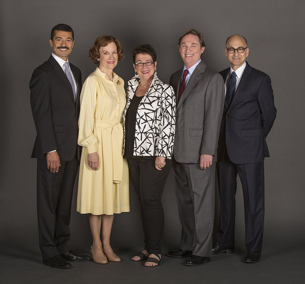 Khaled Nabawy as Anwar Sadat, Hallie Foote as Rosalynn Carter, Molly Smith,  of Camp David, Richard Thomas as Jimmy Carter, and Ned Eisenberg as Menachem Begin