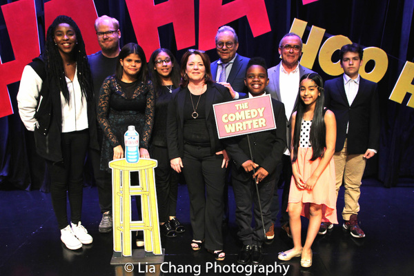 The company of LAUGHING MATTERS, Kids' Stand-up, Adults Deliver: Jessica Williams, Jim Gaffigan, Karen Tineo, Jayla Alvarez, Kathleen Madigan, Lewis Black, Coleman Williams, John Bowman, Magalis Fabian Vinas & Milen Tokarev.