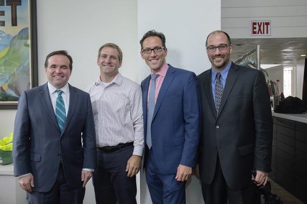 John Cranley, Joe Hubers, Jay Woffington, and Brian Isaac Phillips