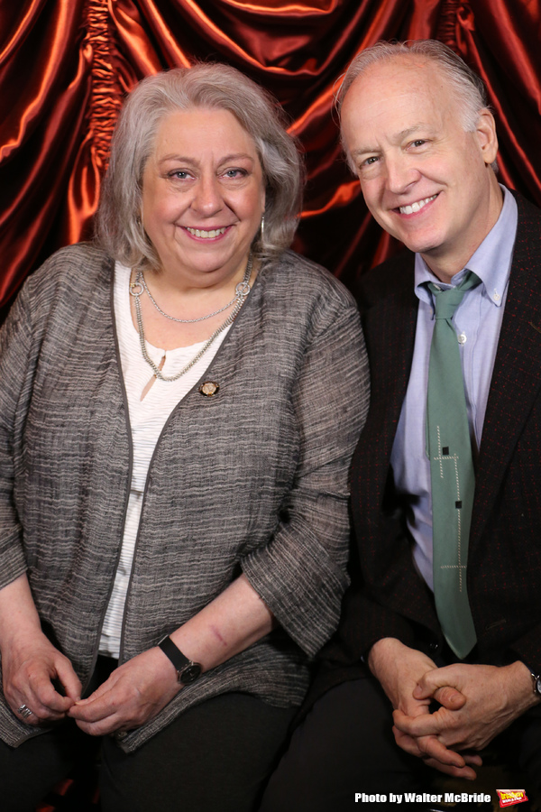 Jayne Houdyshell and Reed Birney during the 2016 Tony Awards Meet The Nominees Press Reception at the Paramount Hotel on May 4, 2016 in New York City.
