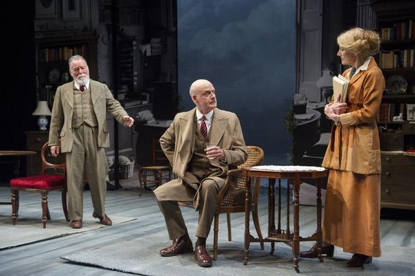 Jeff Rawle (George Bernard Shaw), William Chubb (Edmund Allenby) and Geraldine James  Photo
