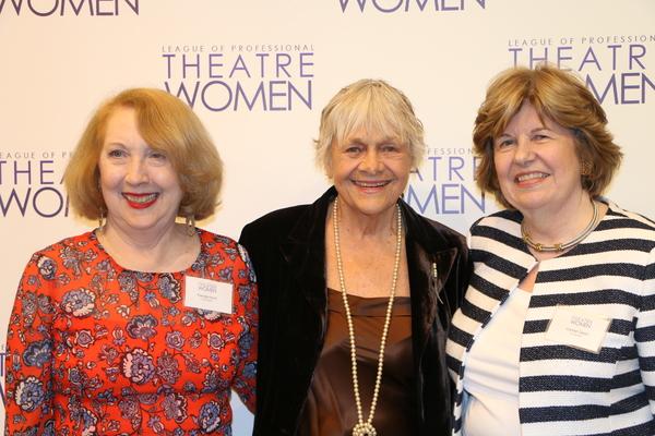 Co-President Pamela Hunt, Host Estelle Parsons, and Co-President Carmel Owen Photo