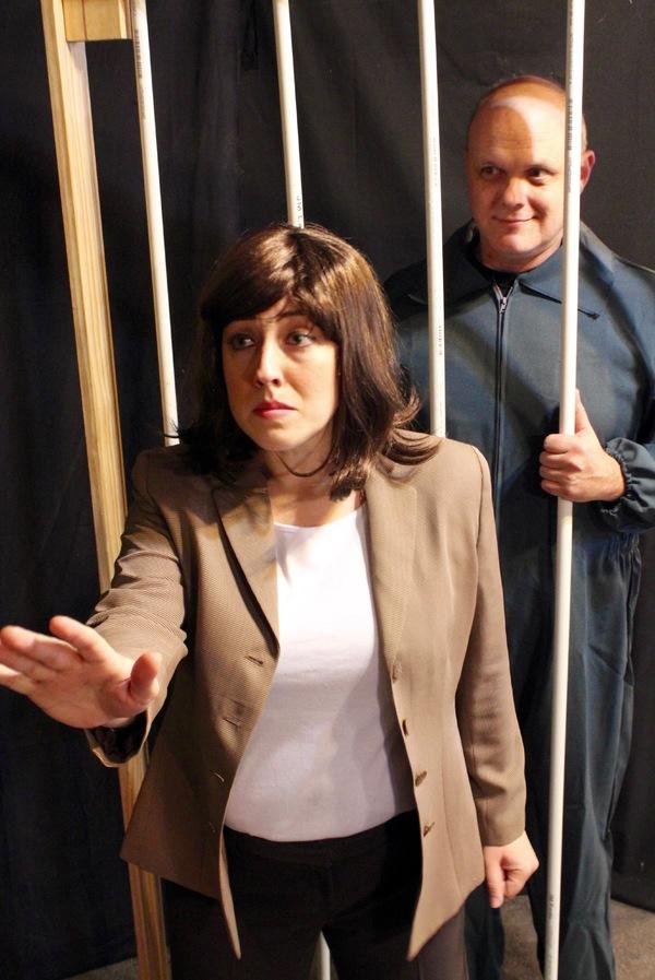 Rachel Landon as Clarice and Chris Gibson as Hannibal Lecter