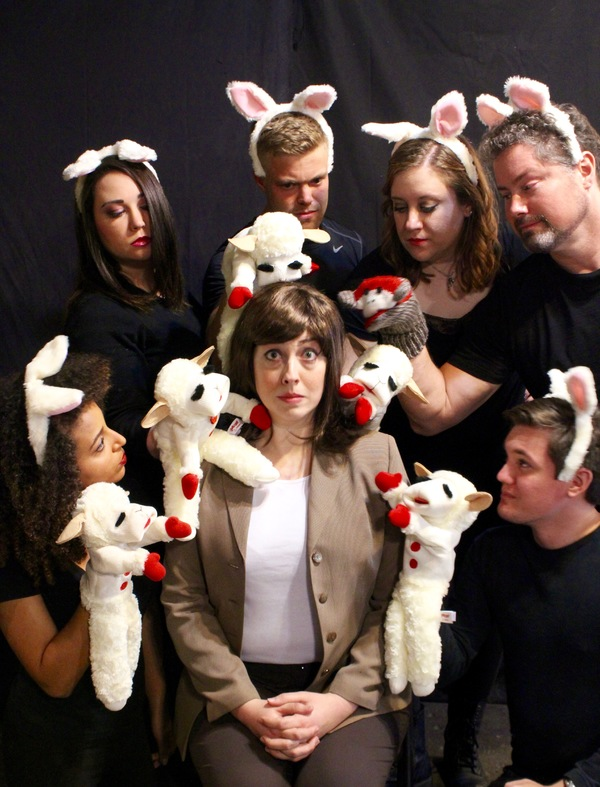 Rachel Landon as Clarice with ensemble members Chaney Moore, Tom Stell, Kiefer Slaton, Maryann Williams, Taelon J. Stonecipher and Heather Buzonas