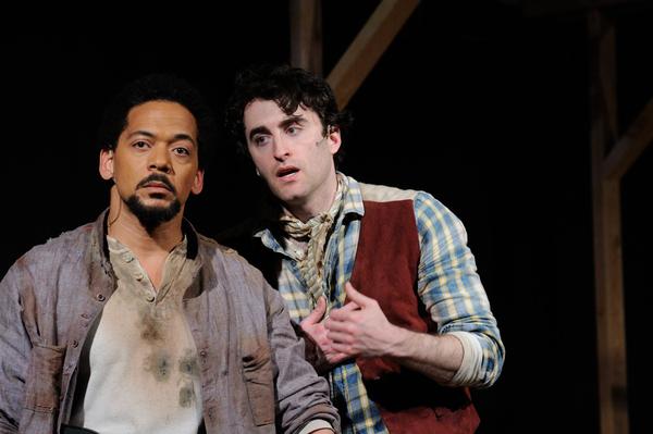 Joe Wilson, Jr.  as Jud and Charlie Thurston as Curly