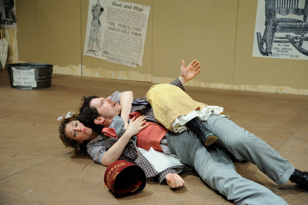 Rebecca Gibel as Ado Annie Carnes and Stephen Thorne as Ali Hakim