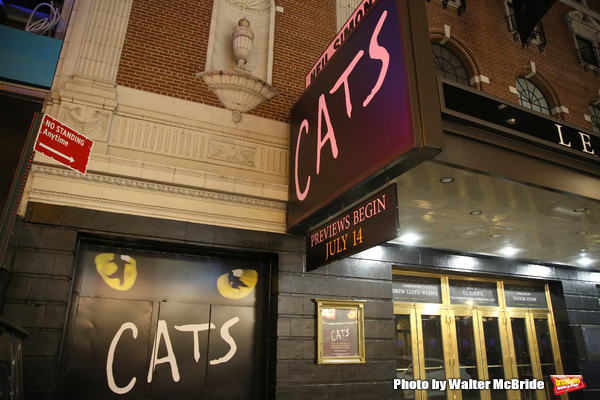 Theatre Marquee unveiling for the Broadway Revival of  'Cats' at the Neil Simon Theatre on May 10, 2016 in New York City.