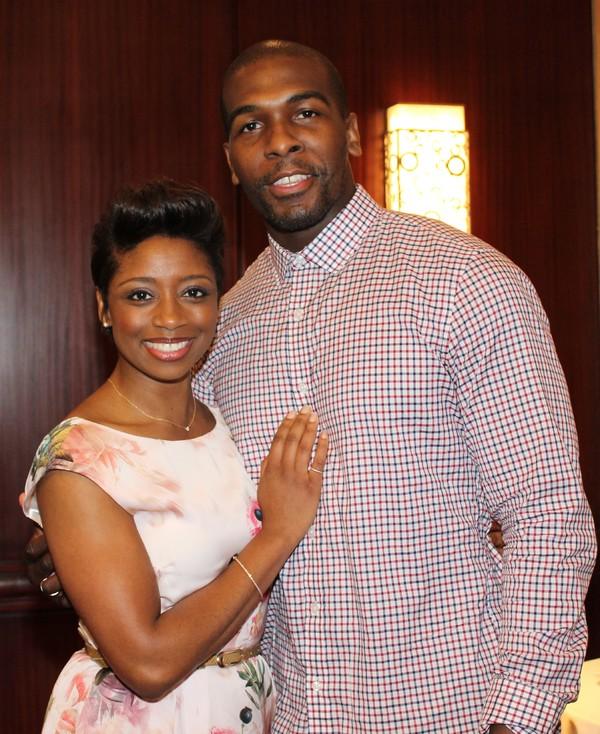 Montego Glover and Khris Davis