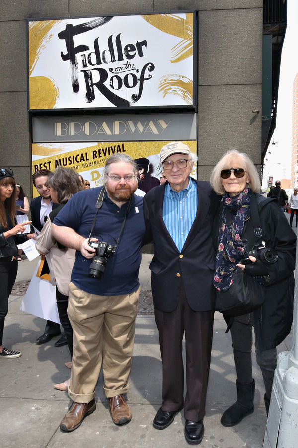 Lyricist Sheldon Harnick with his son Matt Harnick and wife Margery Gray Harnick