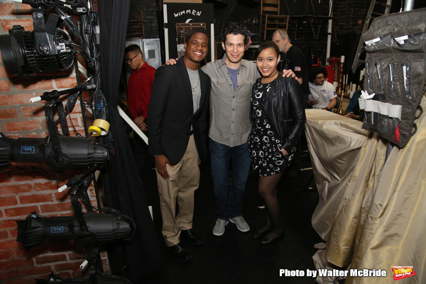 Thomas Kail greets High School student performers
