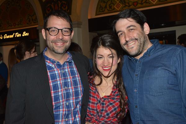 Steve Rosen, Sarah Stiles and Evan Cabnet