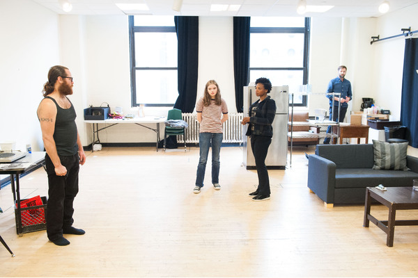 Photo Flash: In Rehearsal for Adam Rapp's THE PURPLE LIGHTS OF JOPPA ILLINOIS at Atlantic Theater Compny