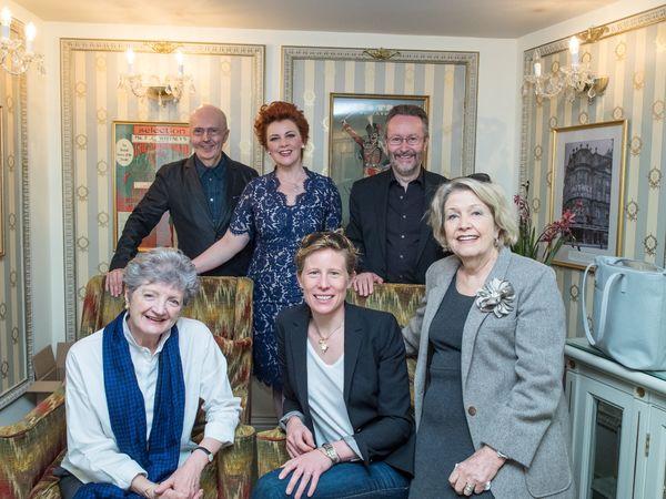 Edward Seckerson, Sophie-Louise Dann, Mark Warman, Julia McKenzie, Thea Sharrock and Anne Reid