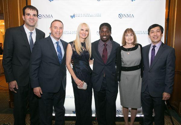 Carl Buher, Michael Laforgia, Sarah Herbert-Galloway, Deion Branch, Lynn Bozof and Pa Photo
