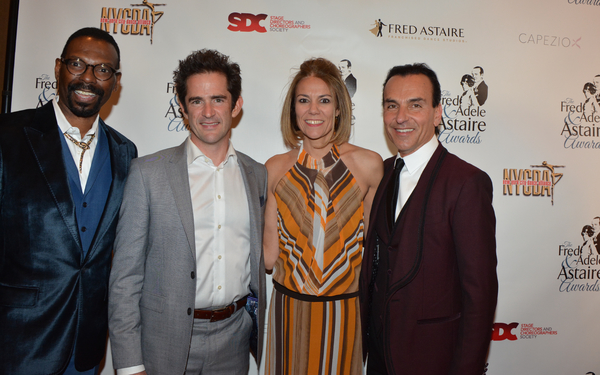 Michael-Demby Cain, Andy Blankenbuehler, Joy Blankenbuehler and Joe Lanteri Photo