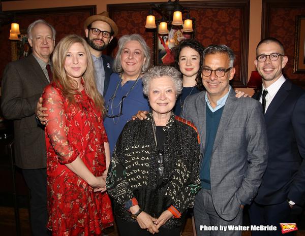 Reed Birney, Cassie Beck, Arian Moayed, Jayne Houdyshell, Lauren Klein, Sarah Steele, Joe Mantello and Stephen Karam