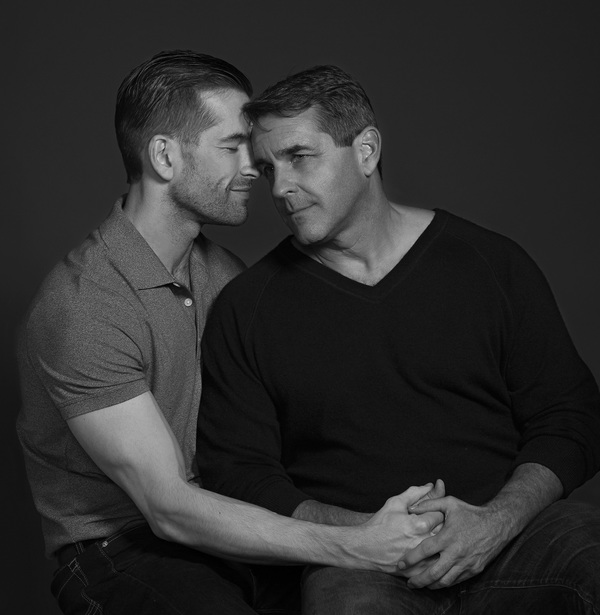 Tom Berklund and Jay Ayers portray lovers Luke and Adam