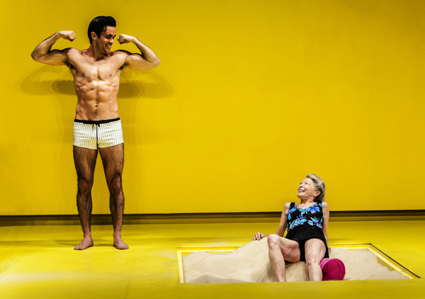 Ryan-James Hatanaka, Phyllis Somerville in THE SANDBOX Photo