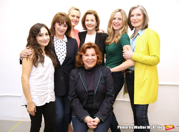 Director Marsha Mason with cast Lucy DeVito, Patricia Richardson, Elaine Hendrix, Jessica Walter, Clea Alsip and Susan Sullivan star in Steel Magnolias at Bucks County Playhouse. attends the photo call of the upcoming Bucks County Playhouse production of