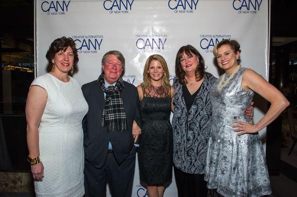 Alissa Desmarais, Andre Bishop, Kelli O'Hara, Ann Hampton Callaway and Cady Huffman