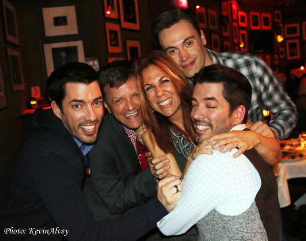 Drew Scott, Jim Caruso, Victoria Shaw, Erich Bergen and Jonathan Scott Photo