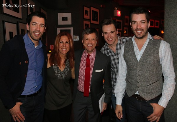 Drew Scott, Victoria Shaw, Jim Caruso, Erich Bergen and Jonathan Scott