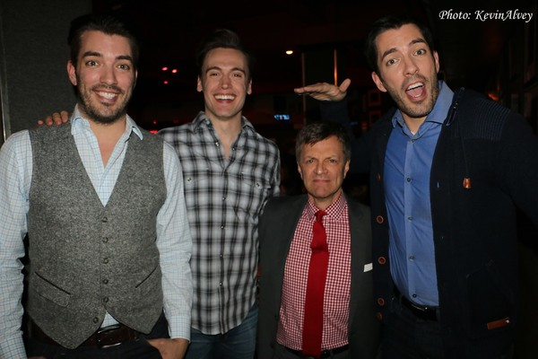 Jonathan Scott, Erich Bergen, Jim Caruso and Drew Scott